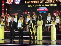 SUNHOUSE tiếp tục được vinh danh Hàng Việt Nam chất lượng cao 2019